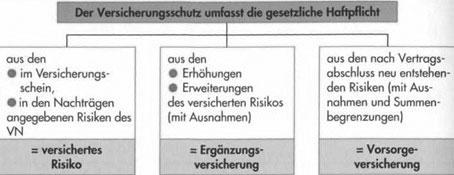 Versichertes Risiko und Risikobeschreibung - Versicherte Schadenarten49