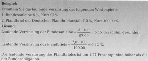 Rendite von Schuldverschreibungen - Anlage in Wertpapieren49