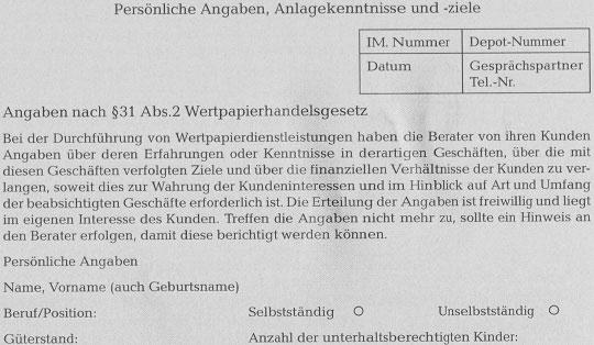 Rechtliche Aspekte der Geldanlageberatung - detailliertere Information91