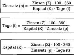 Zinstage Berechnen Formel : zinsrechnen richtig verstehen kaufm nnisches rechnen ~ Themetempest.com Abrechnung