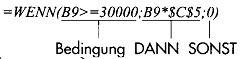 Selektionen mit der logischen WENN-Funktion in MS Excel83