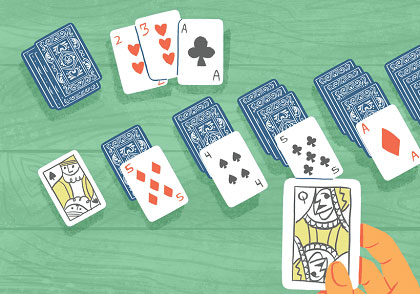 Kartenglücksspiel
